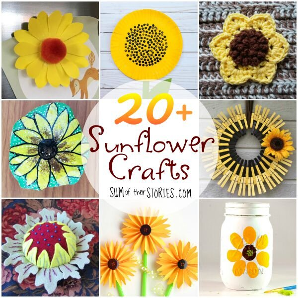 When they mature during the late summer and fall, you can also harvest their seeds for a tasty snack. Sunflower Crafts Sum Of Their Stories Craft Blog