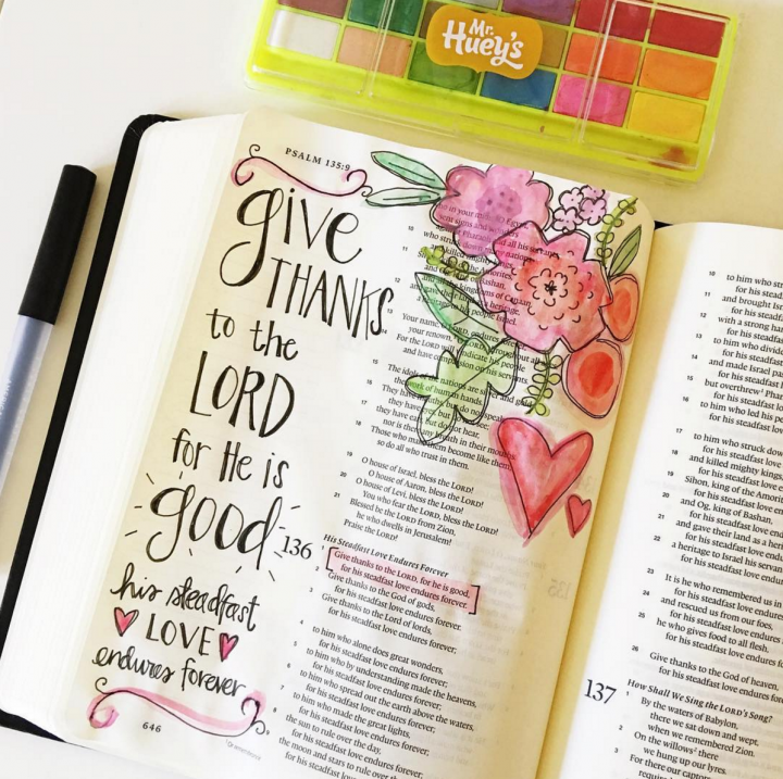 Illustrated Faith Journaling Bible Flowers
