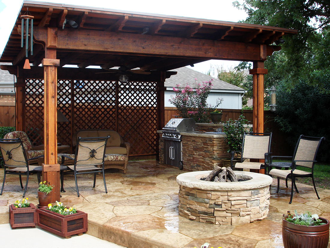 Outdoor Living - BMR Pool & Patio on Backyard Patio With Firepit id=60187