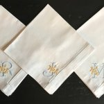 Embroidered And Monogrammed Napkins The Hanky Shoppe