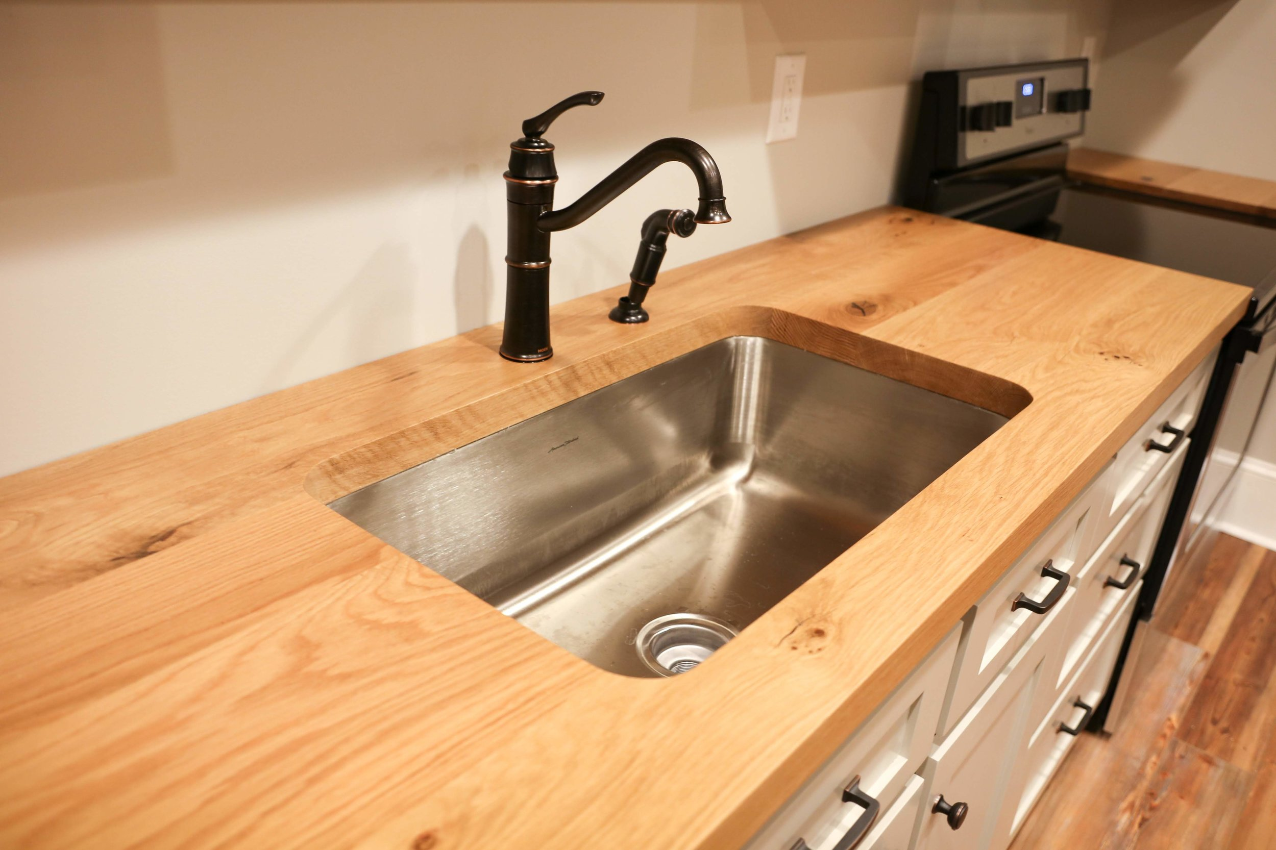 the truth on sinks wood countertops