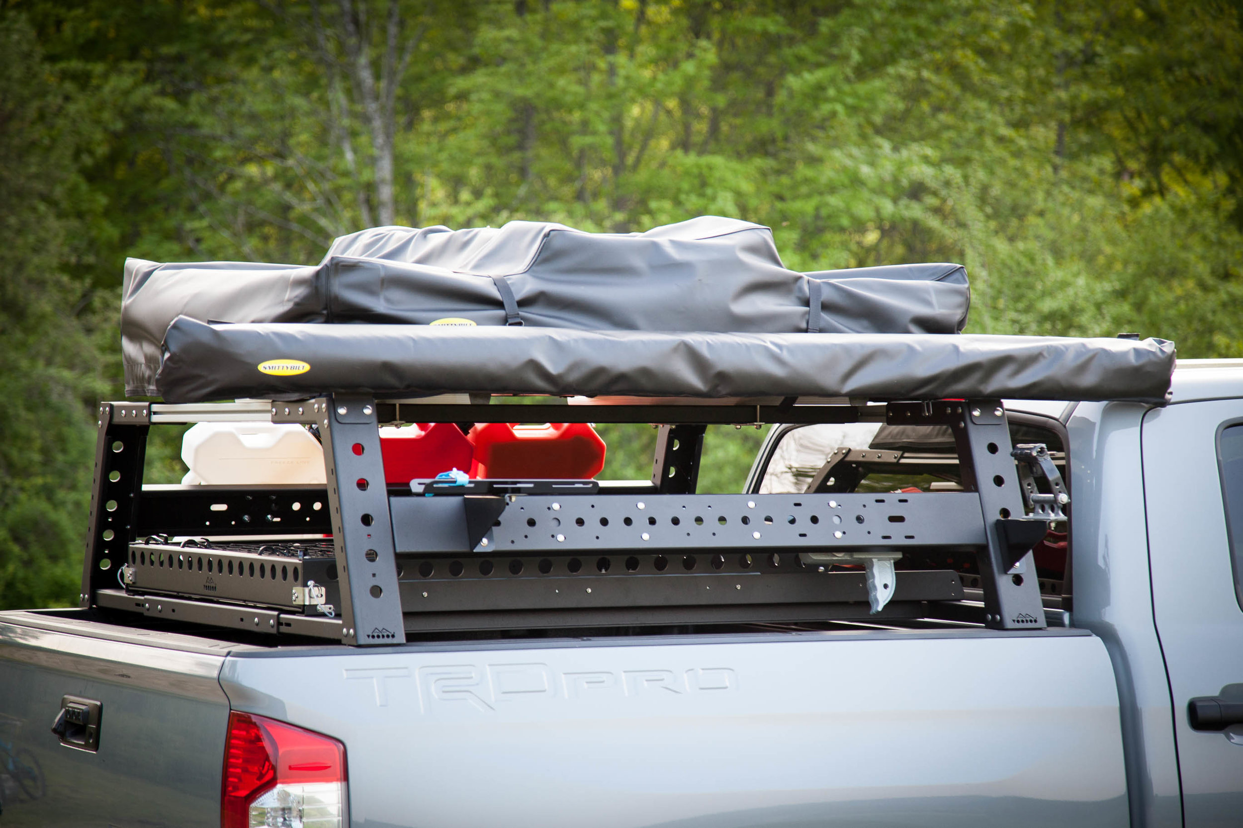 max modular steel max 18 high bed rack fits all toyota ford chevy ram and nissan trucks max modular truck bed racks