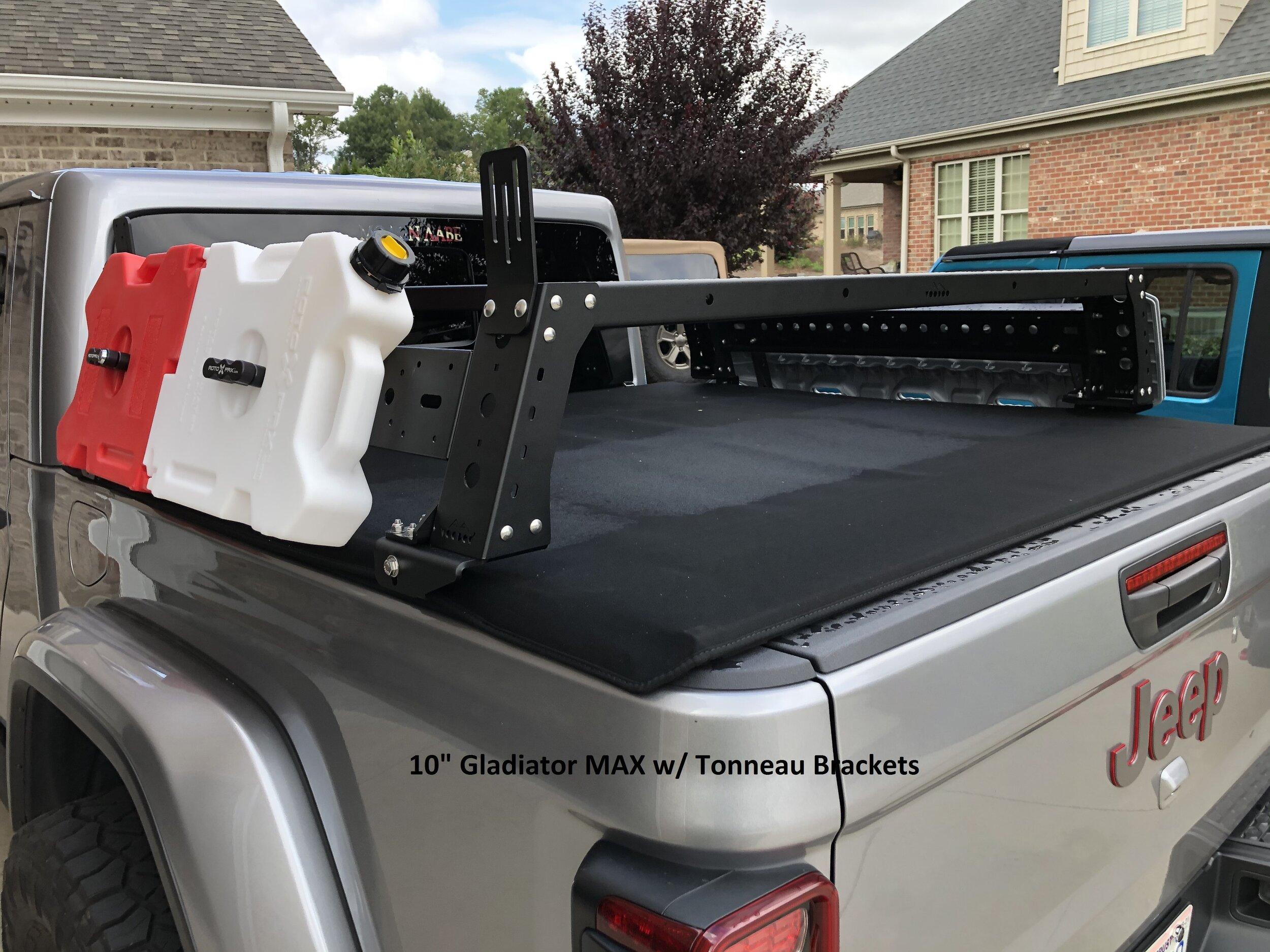 max modular gladiator max aluminum bed rack fits 2019 and up jeep gladiators max modular truck bed racks