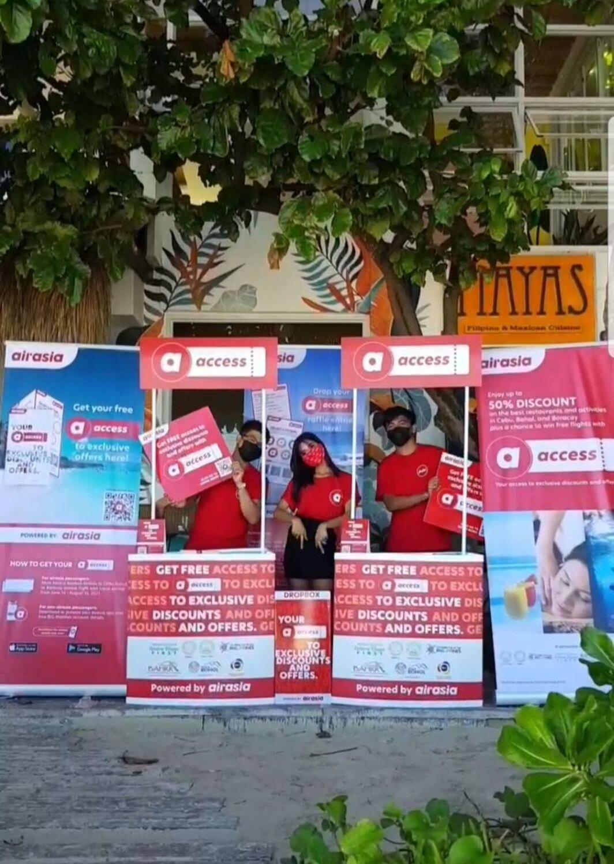 Visit the AirAsia booth at Mayas Boracay.