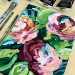 Easy Online Abstract Flower Painting Classes With Step By Step Instructions Elle Byers Art