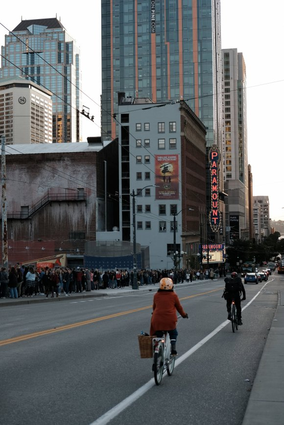 Line outside AJR's concert at The Paramount, Seattle, 30 September 2019.