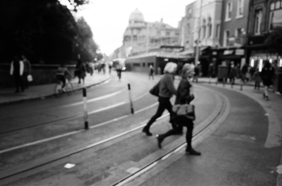 Blurry Dublin, out of focus Olympus XA. October 2019.