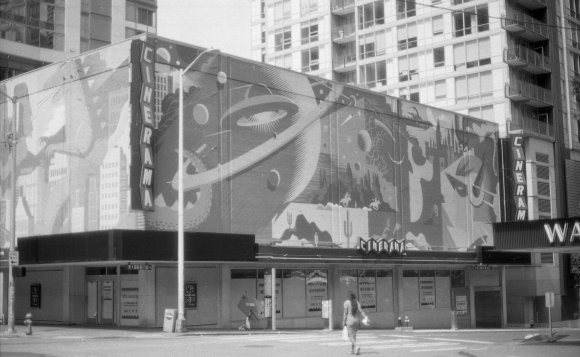 I like this one, too. I didn't do much in post-processing compared with the previous one, just dropped the exposure a bit. Seattle Cinerama, May 2020.