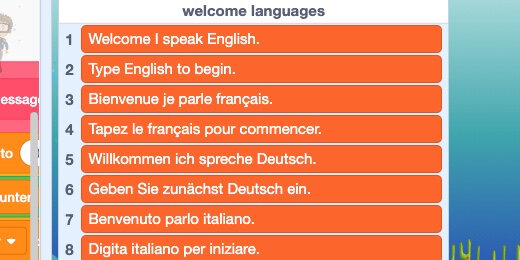 multiple language dialogue in scratch projects using lists digital maestro magazine