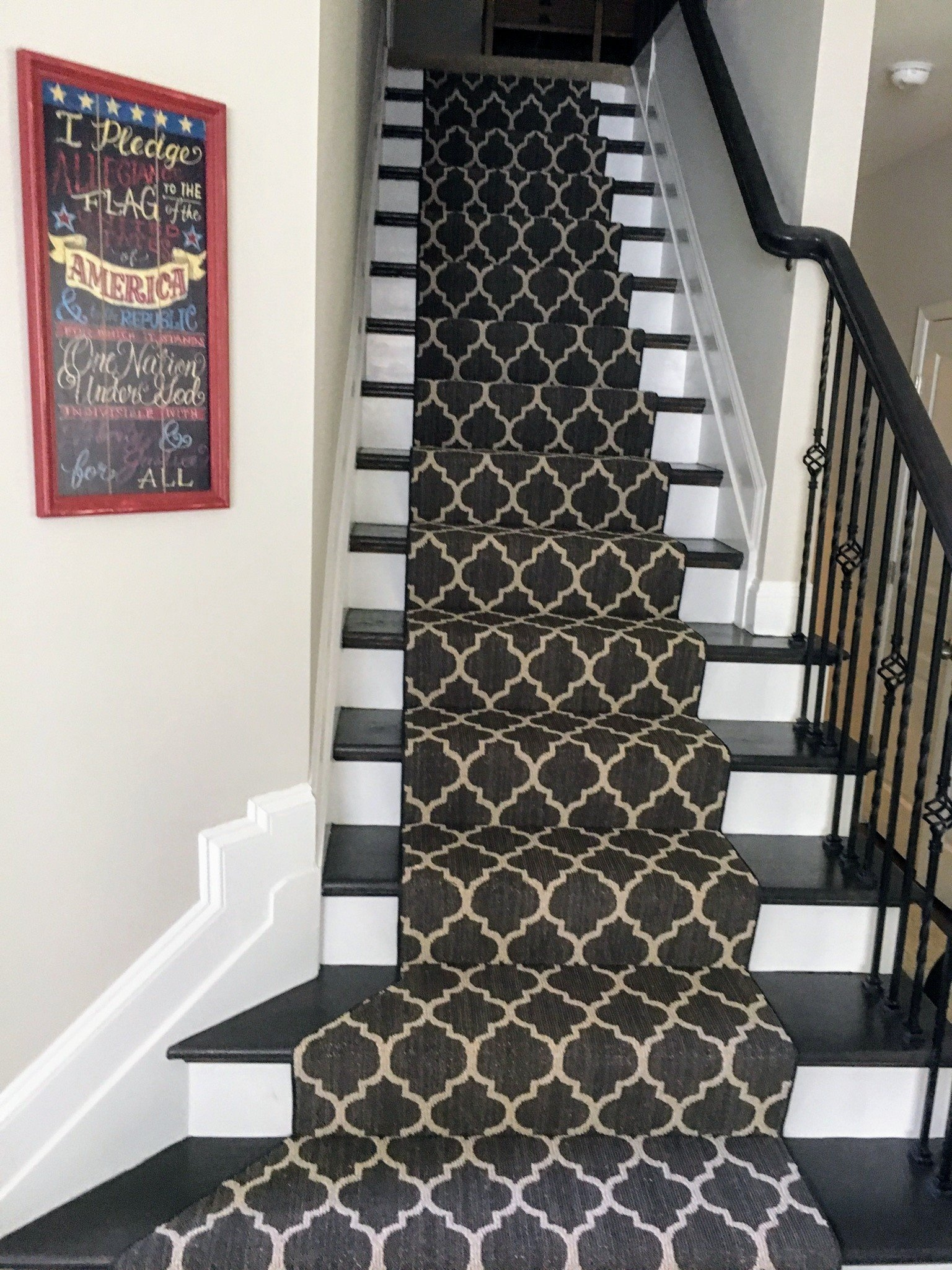 Tuftex Carpet Stair Runner — Beers Flooring   Carpet And Tile Stairs   Gray   Backsplash   Carpeted   Tiled Hallway Carpet   Before And After