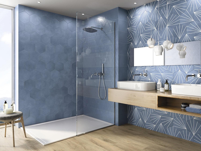 shop online for blue hexagonal tiles eg everton glass in liverpool