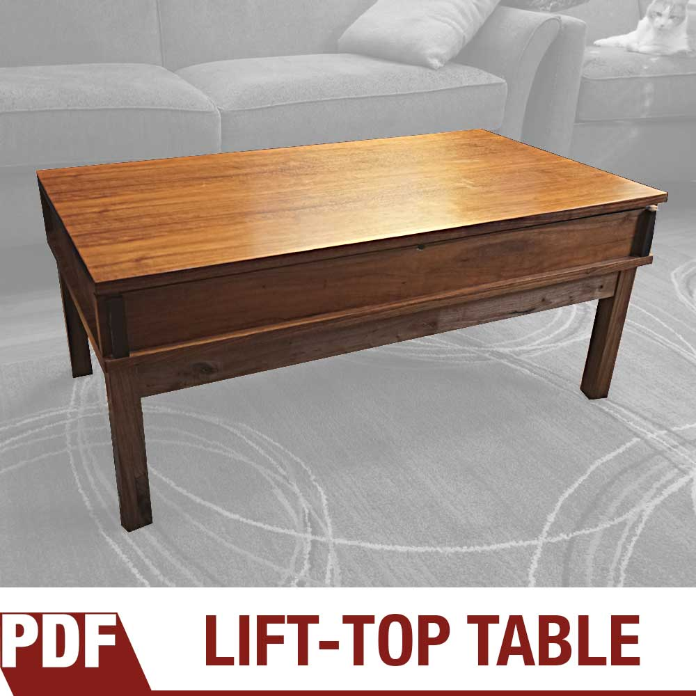 how to make a coffee table with lift top