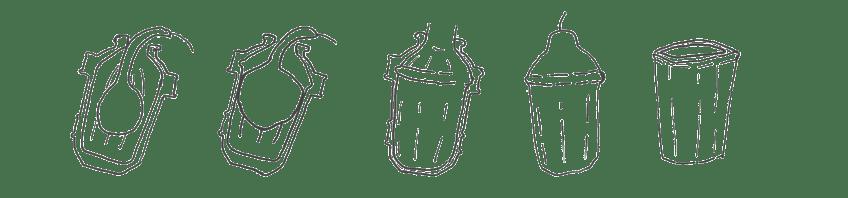 Vasos calabaza