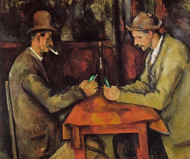 """© Kim Dong-Kyu,  ART X SMART  project, 2013. """"The Card Players"""" by Paul Cezanne."""