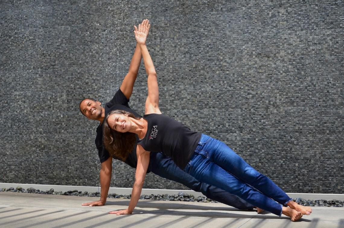 Amy & Michael Caldwell, Yoga One studio owners.