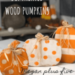 Diy Craft Kit How To Paint Your Wood Pumpkin Cut Outs To Complete Your Rustic Fall Decor Megan Plus Five