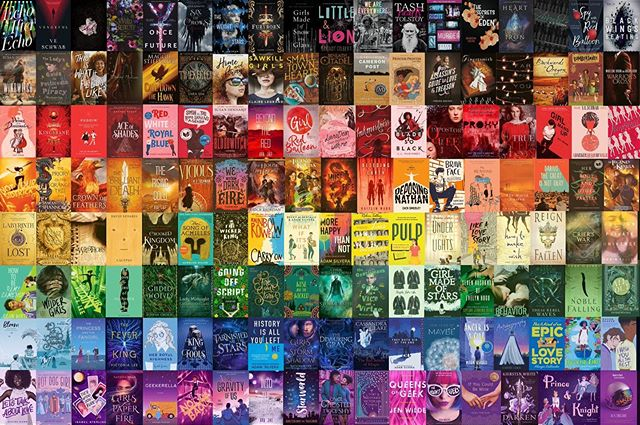 🏳️🌈🏳️🌈🏳️🌈 HAPPY PRIDE!!! sorry for the radio silence/random posts 😬 I'm so busy and my mental health is all over the place, BUT AT LEAST THERE ARE BOOKS! I decided to make my version of the poc pride flag book collage, after seeing Bookish's attempt at one; that one included some questionable choices for LGBTQ+ rep (Harry Potter?????? Queen of Shadows??????????). they reached out to me and said the design was a few years old, explaining why books like GOPAF were left out; they'll put out a new one soon, which is promising! nevertheless, I'm v much proud of what I've made, with at least half of the books written by LGBTQ+ authors, ALL with *explicit* LGBTQ+ rep. so. HAPPY PRIDE FROM THIS BI DISASTER! 💗💜💙 #bookstagram #lgbtbooks #happypride