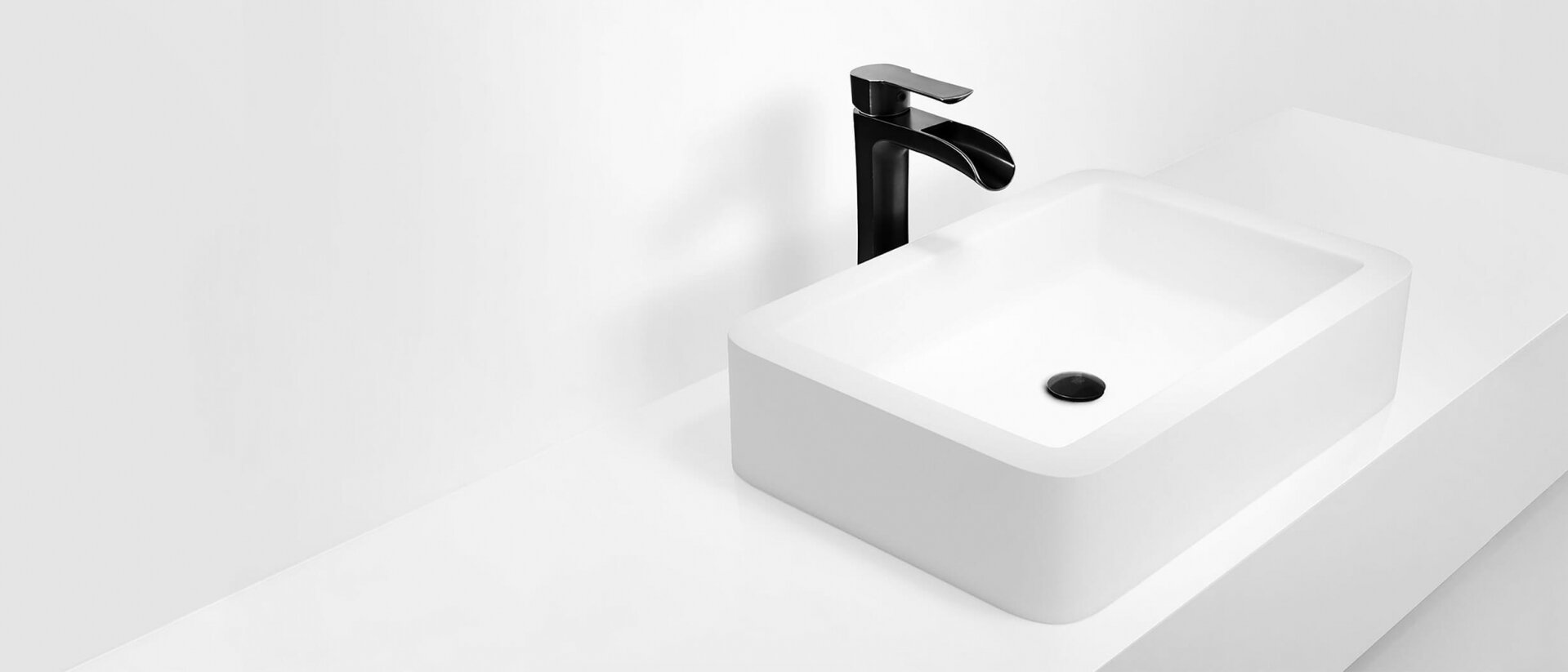 vessel sinks and wall mount faucets