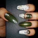 Olive Marble Love Dee Nails