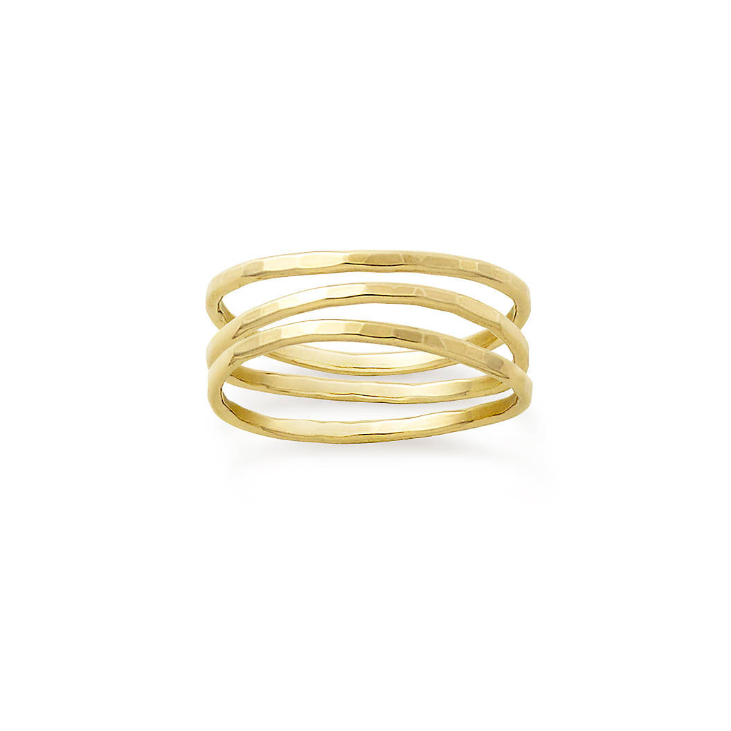 14k gold stacked rings from James Avery