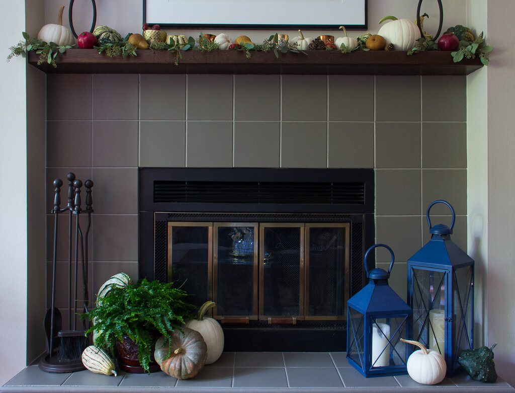 fireplace makeover how to paint tiles