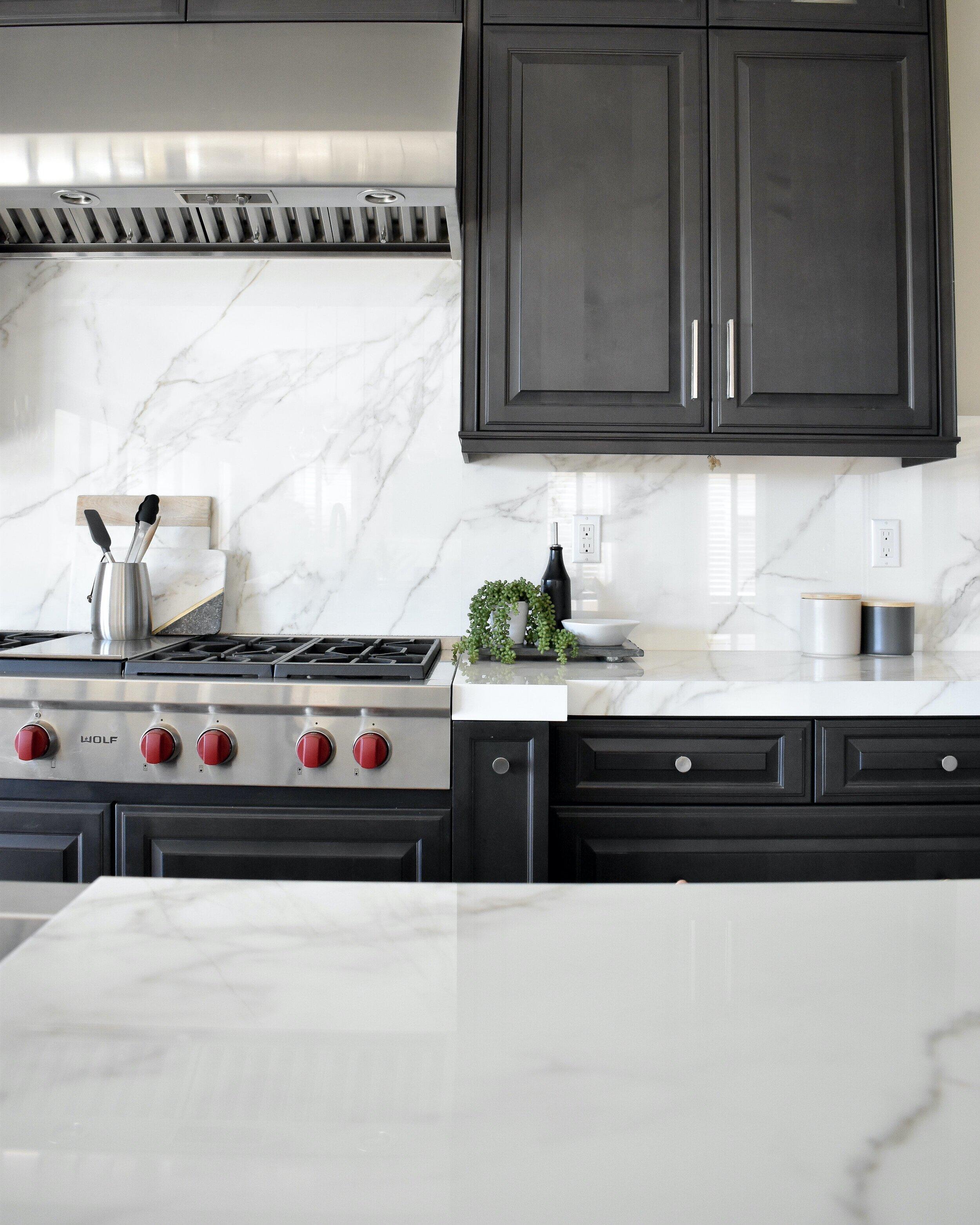 tile vs slab backsplash the material