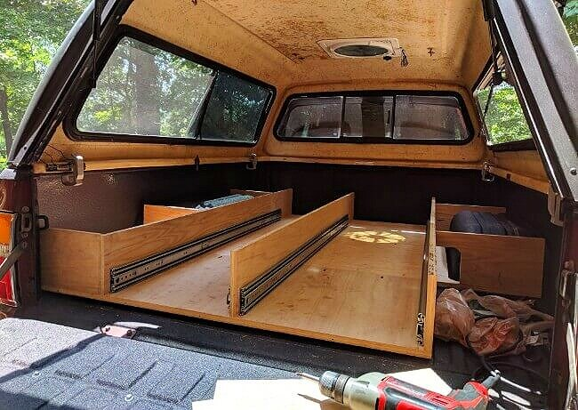 diy truck bed camper build the