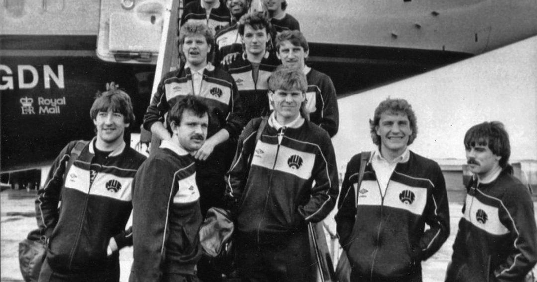 Ferris (top centre) next to a young Paul Gascoigne