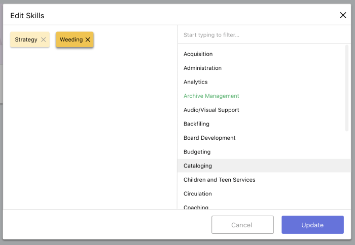 v3 Tag Editor. Split screen for select/delete and search/browse.