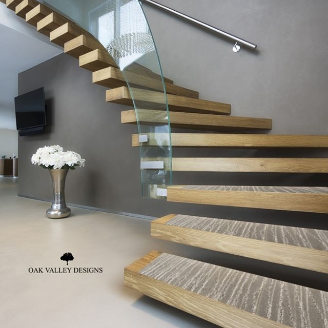 Indoor Carpet Stair Treads Oak Valley Designs | Stair Treads For Carpeted Stairs | Wood Stairs | Laminate | Anti Slip Stair | Basement Stairs | Skid Resistant