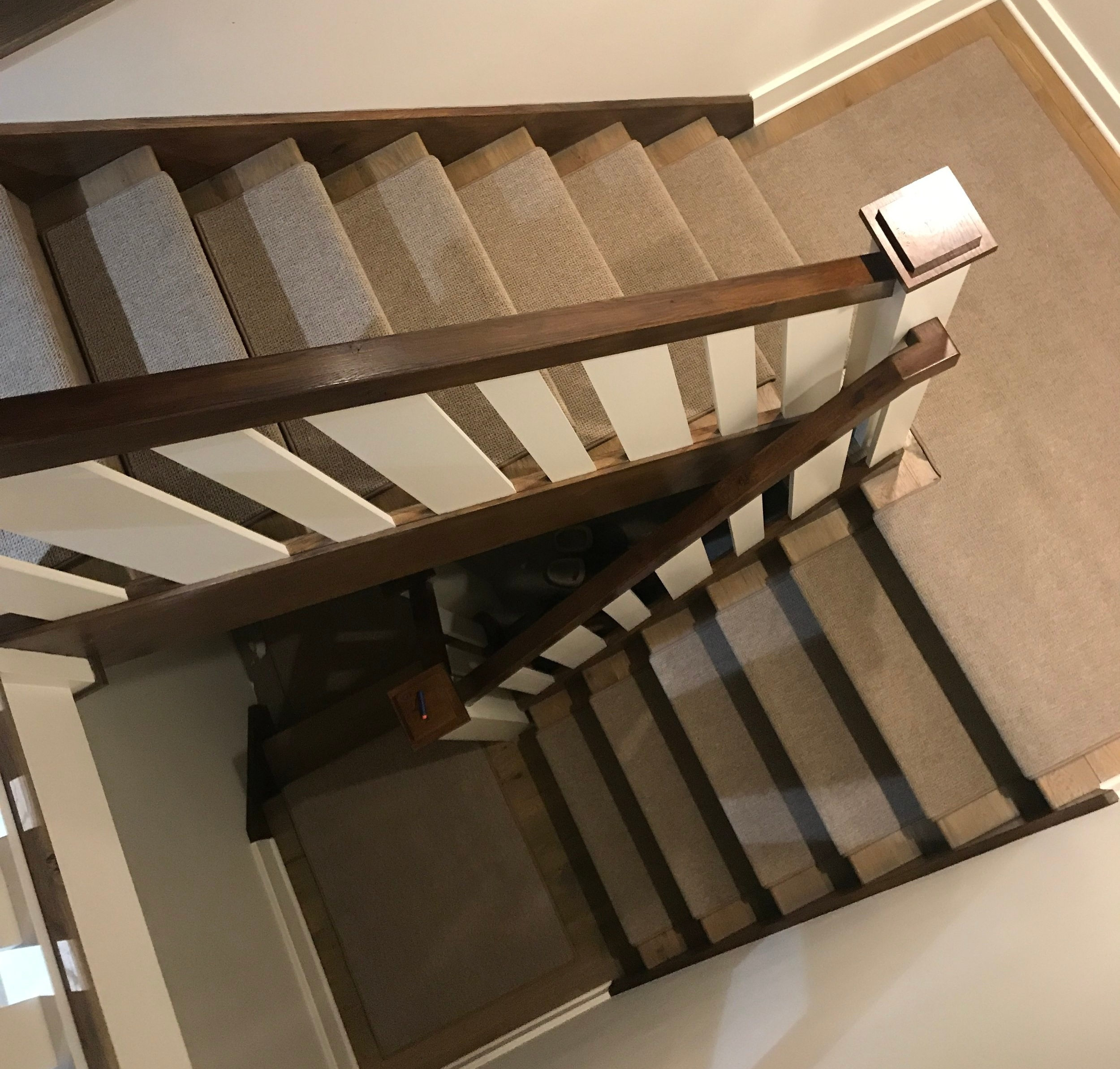 Indoor Carpet Stair Treads Oak Valley Designs   Carpet Runners For Stairs And Landing   Carpet Hampton Style   Hallway   Stair Runner Matching Landing   Fitted   Farmhouse