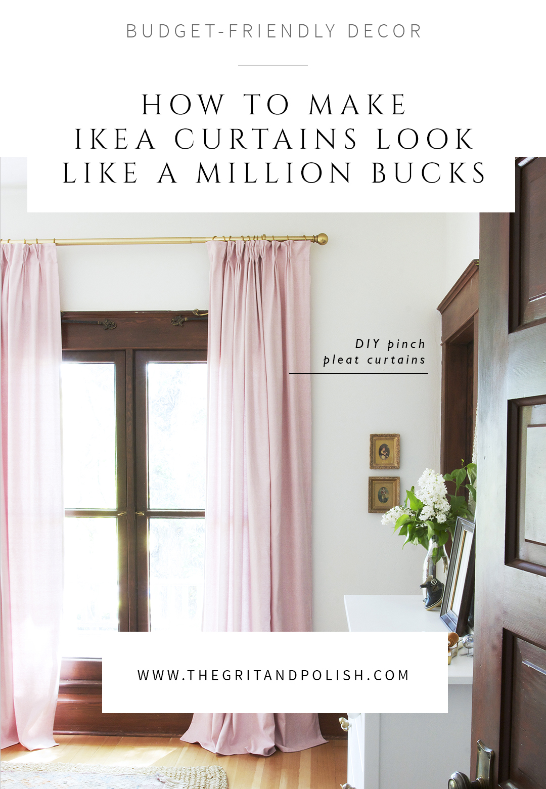 diy pinch pleat curtains how to make