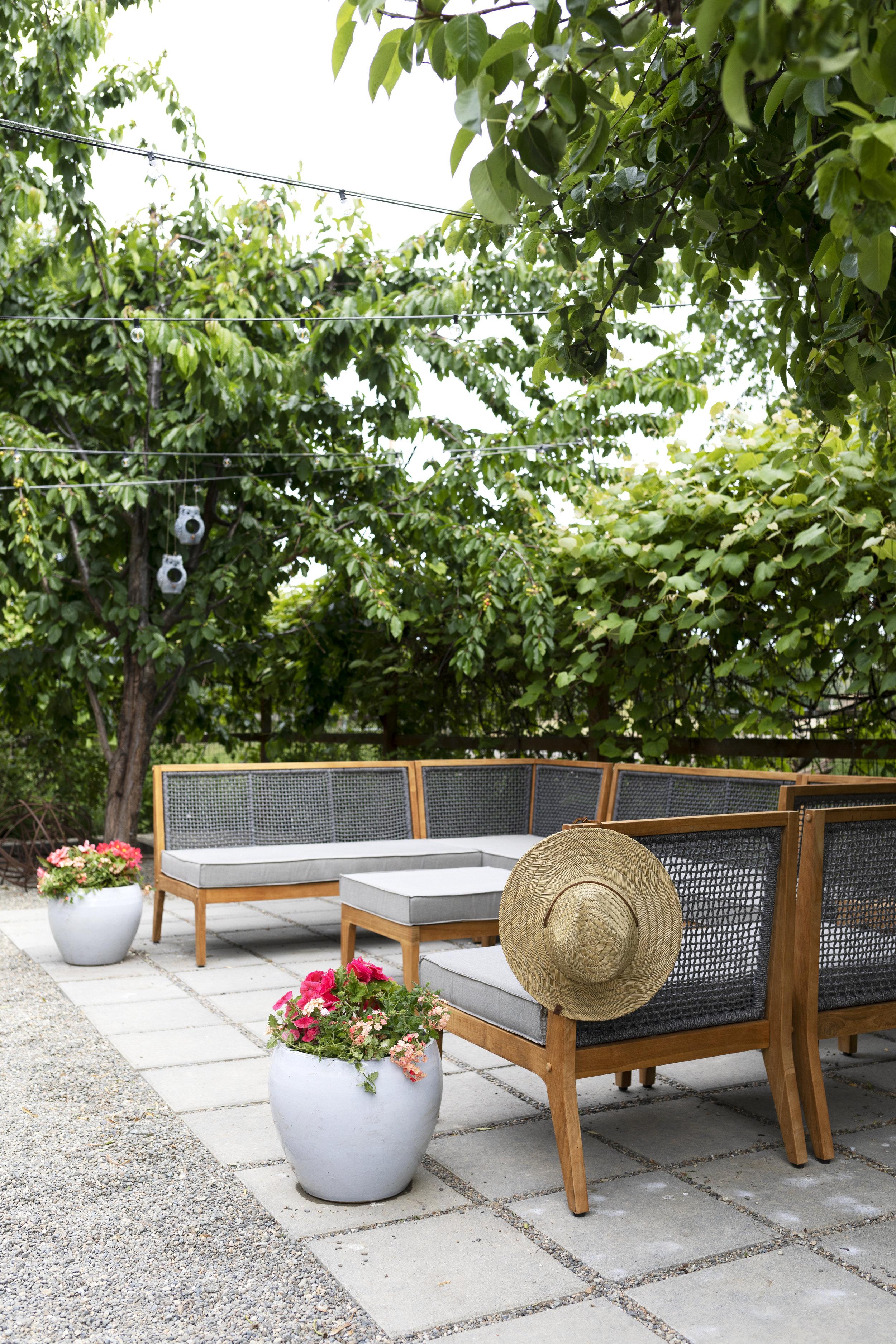 our farmhouse garden and outdoor living
