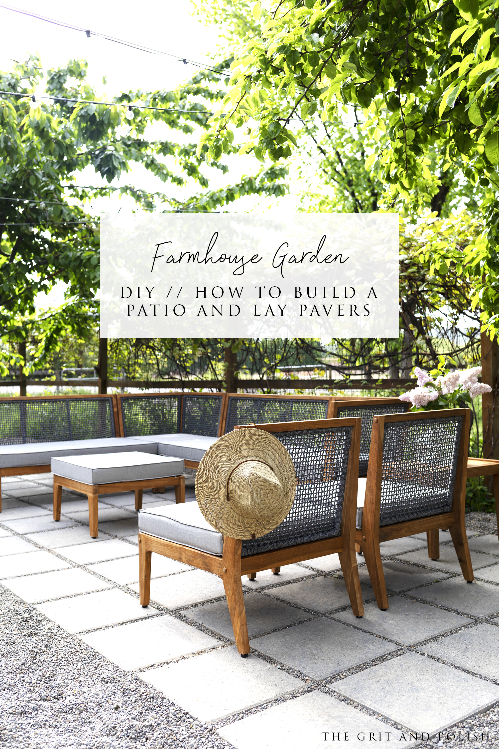 build a patio and lay pavers