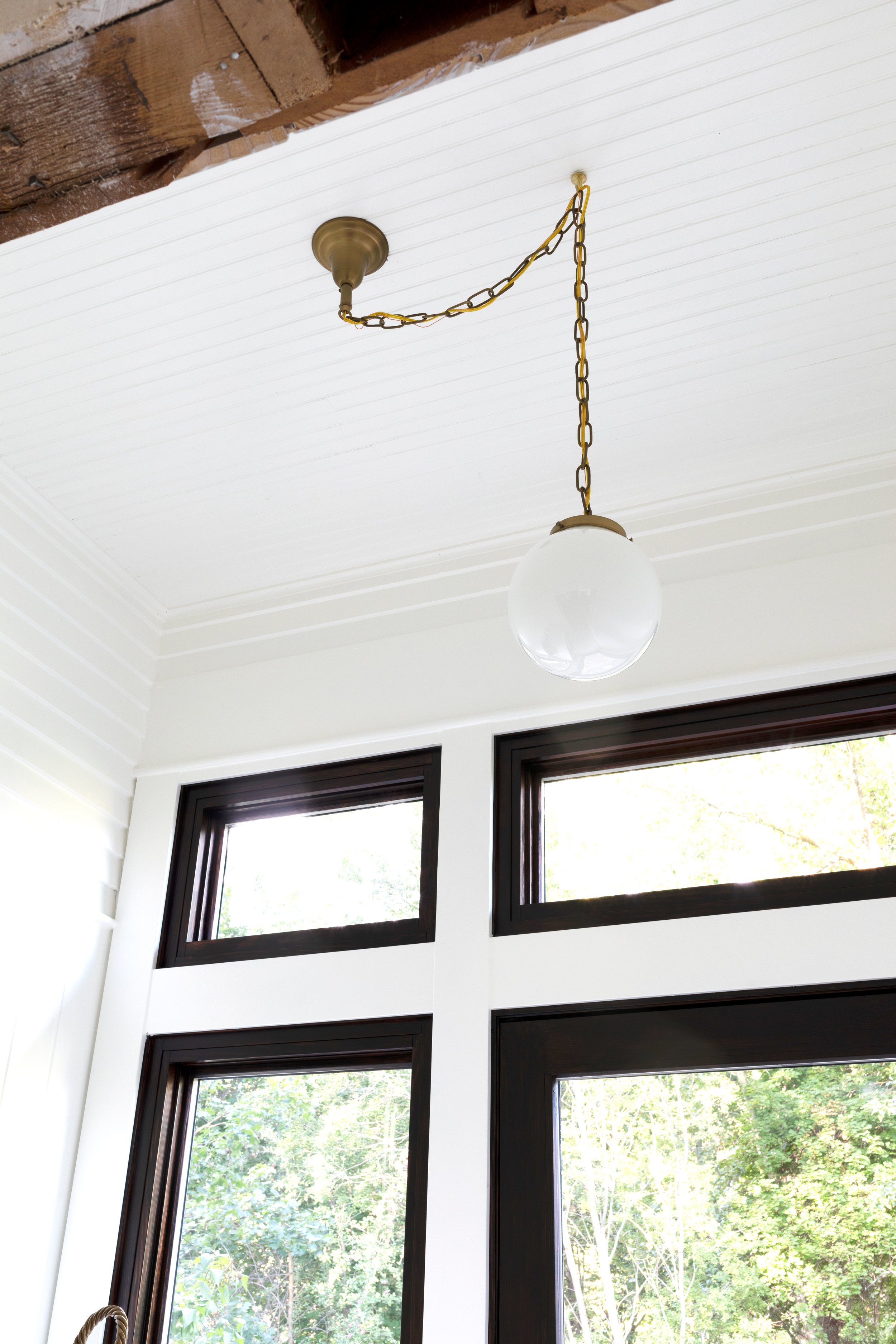 how to center an off center ceiling