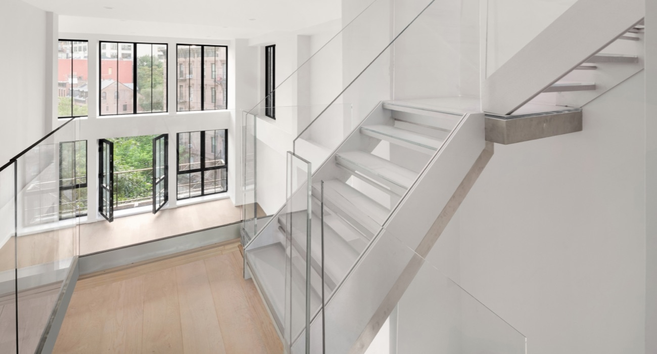 Staircases — Design Hardware   Glass Stair Treads Cost   Floating Staircase   Handrail   Floating   Steel   Iron Stair