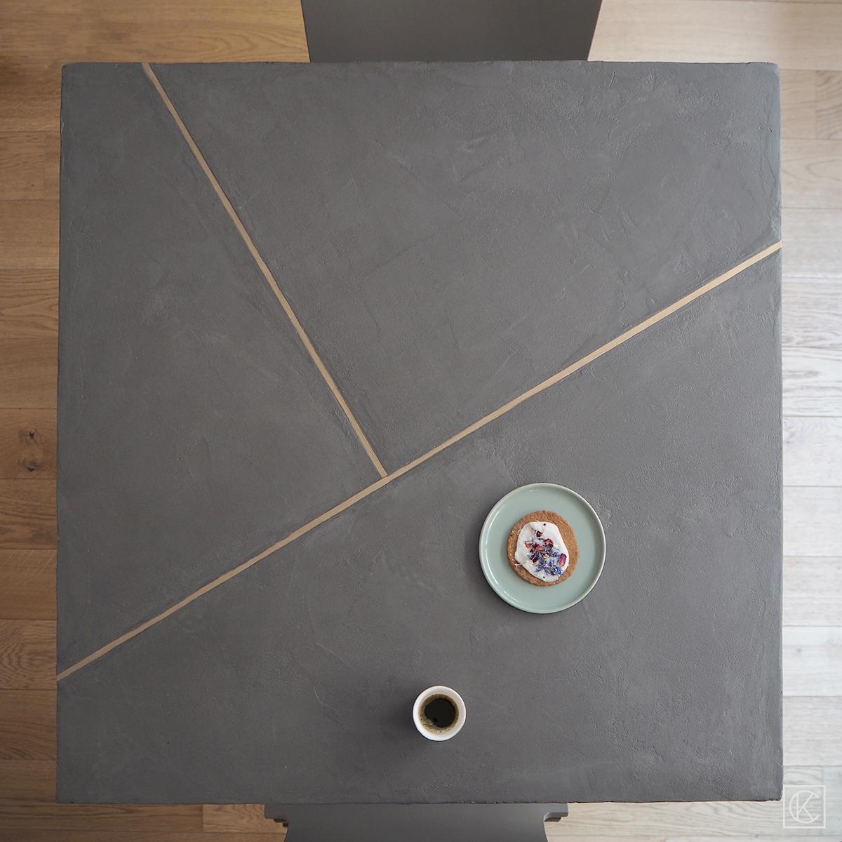 ikea hack une table beton laiton