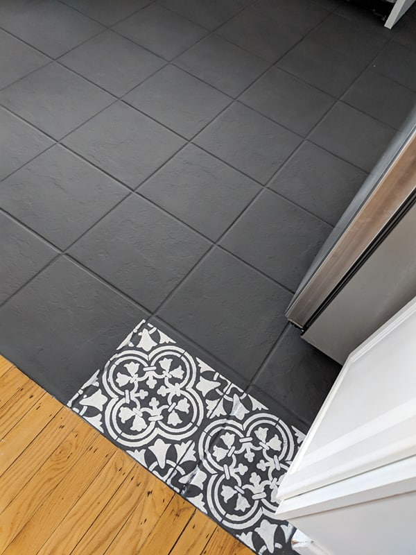the day i painted my kitchen tile floor