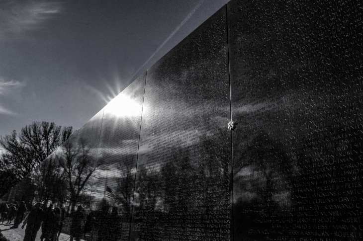 Reflections, Vietnam Wall (Meg LeDuc)
