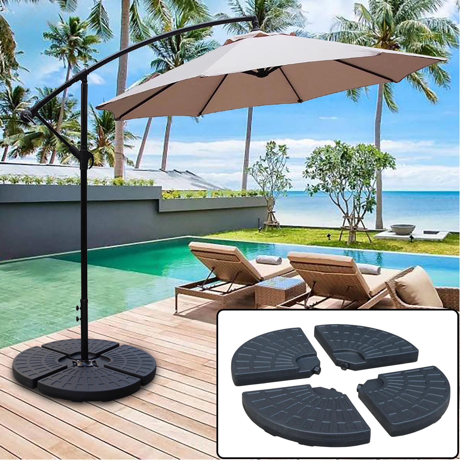 abble heavy duty cantilever offset patio plastic free standing umbrella base abble inc