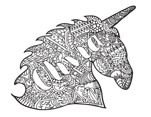 OLIVIA! CLASSIC STEVIE DOODLE + UNICORN ZENTANGLE - Free Coloring
