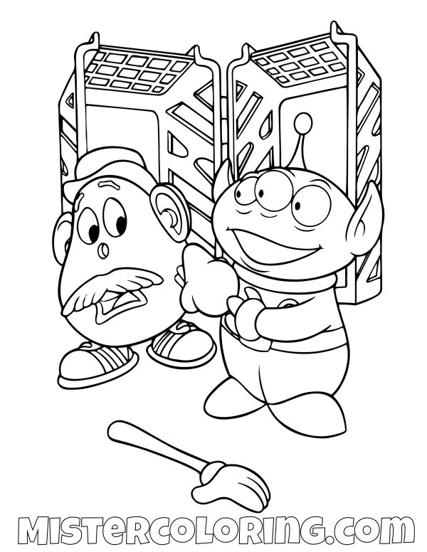 mr potato head coloring pages # 49