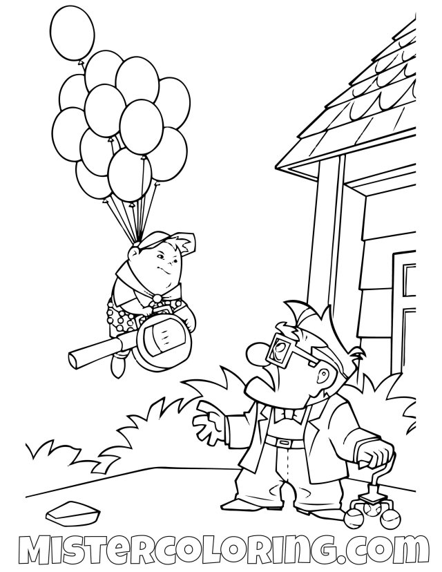 Awesome New Carl and Ellie Coloring Pages - xColoring