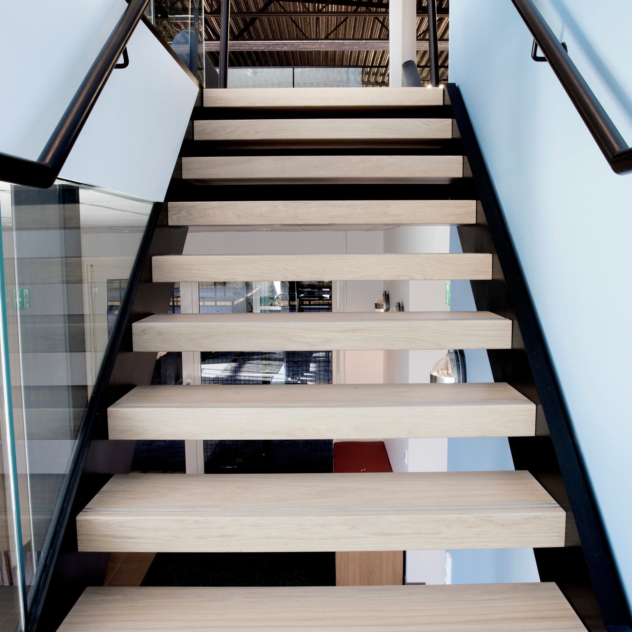 Modern Design Staircases   Wood And Metal Staircase Design   Staircase Ss Handrail   Steel   Modern   Rustic   Fabrication