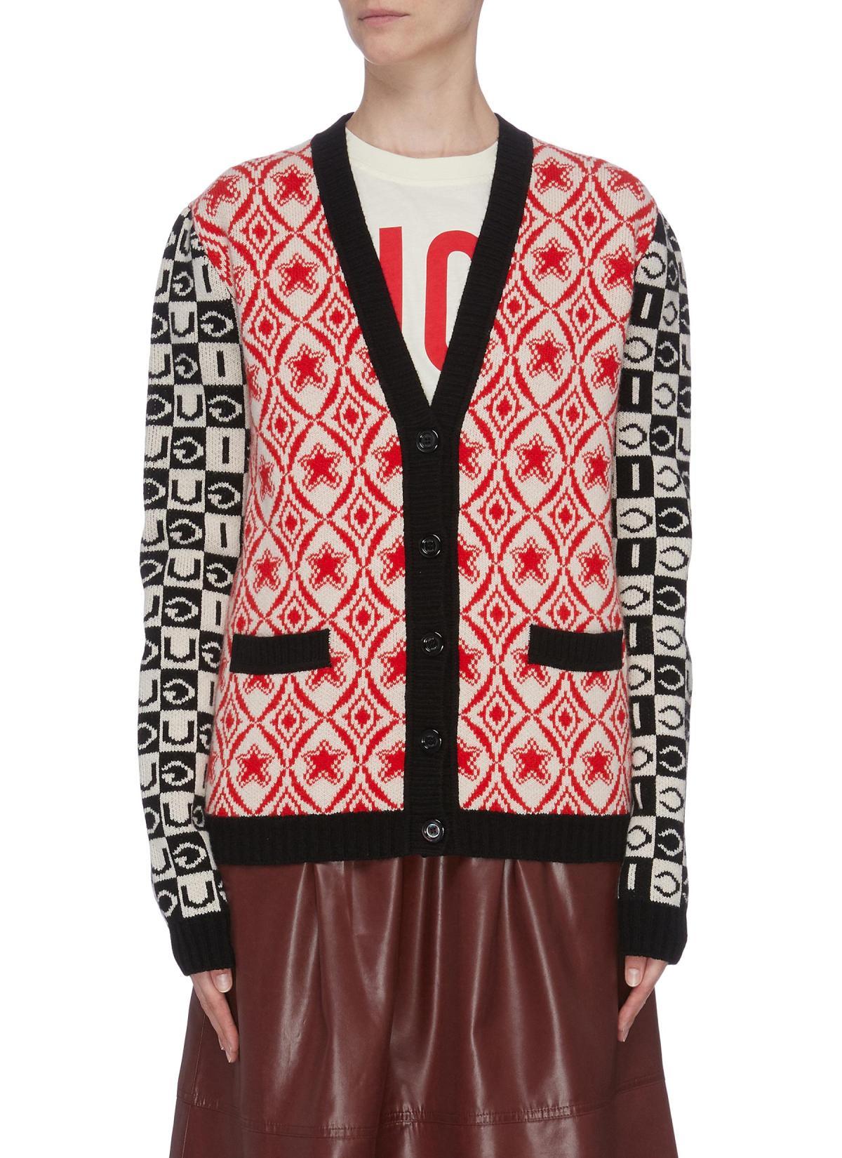 Gucci Mixed Jacquard Cardigan HKD$13,200