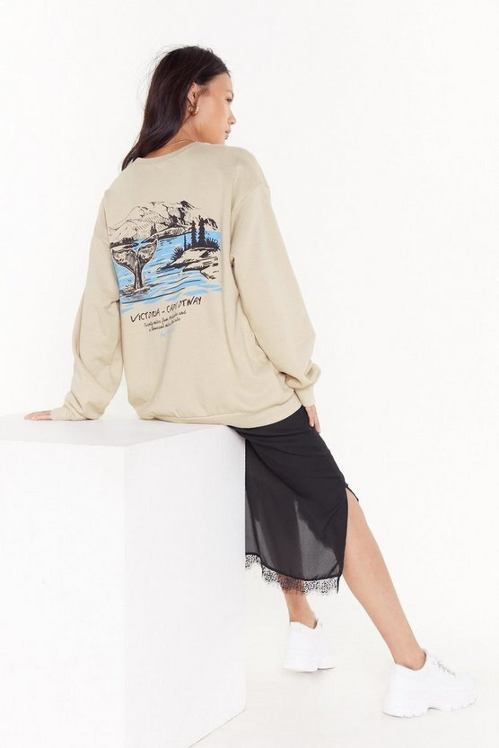 Nasty Gal Breaks to Victoria Oversized Graphic Sweatshirt US$50 (HK$392)