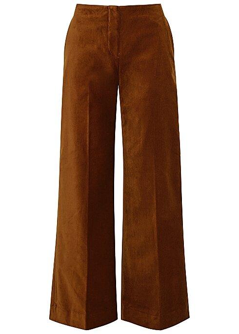 SAMSØE & SAMSØE Caren rust wide-leg velvet trousers HK$1,040