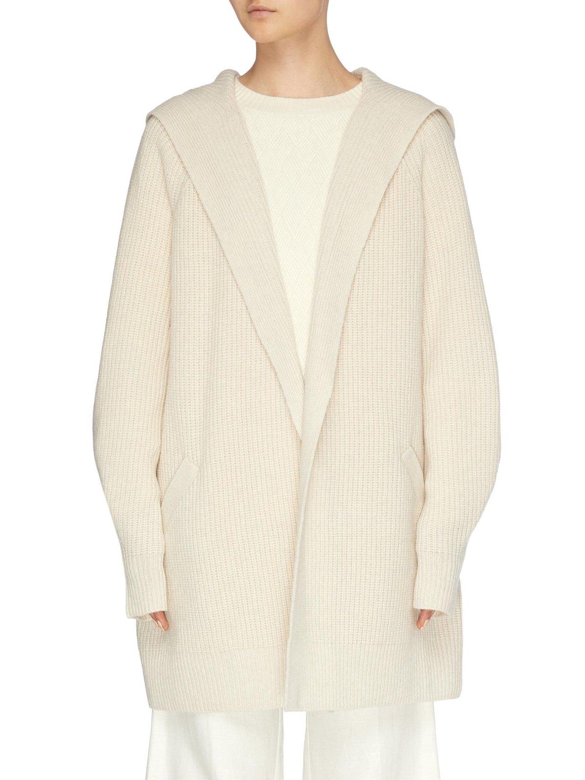 CRUSH COLLECTION Rib Knit Long Cashmere Cardigan HK$4,800
