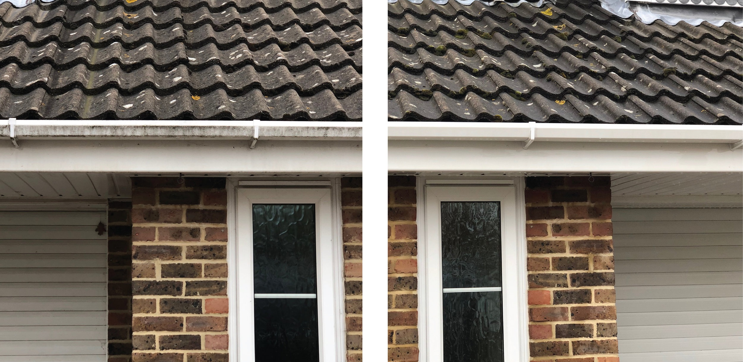 render brickwork roof moss removal