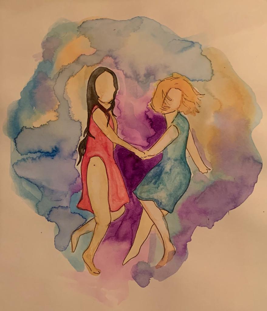 """""""Mientras bailo no puedo juzgar, no puedo odiar, no puedo separarme de la vida… """" Ilustración de Ani Ventocilla."""